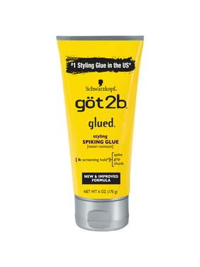 Got2b Glued Spiking Max Hold Hair Styling Glue Gel, 6oz