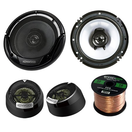 1 Inch Dome - 2 Pair Car Speaker Package Of 2x Kenwood KFC-1665S 6 1/2
