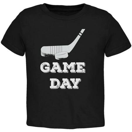 Game Day Hockey Black Toddler T-Shirt - 2T