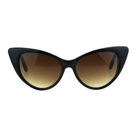 Womens 20s Classic Mod Retro Vintage Style Cat Eye Sunglasses Black Brown](20s Style Clothing)