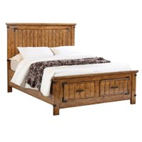 Coaster Brenner Queen Storage Panel Bed in Natural and Honey