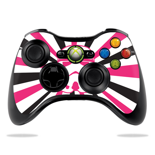 Skin Decal Wrap for Microsoft Xbox 360 Controller Pink Star Rays