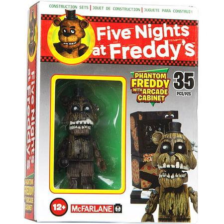 McFarlane Five Nights at Freddy's Phantom Freddy with Arcade Cabinet Micro  Figure Build Set