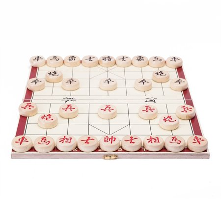 Portable Traditional Xiang Qi Wooden Folding Chinese Chess Checker Game](Checker Games)