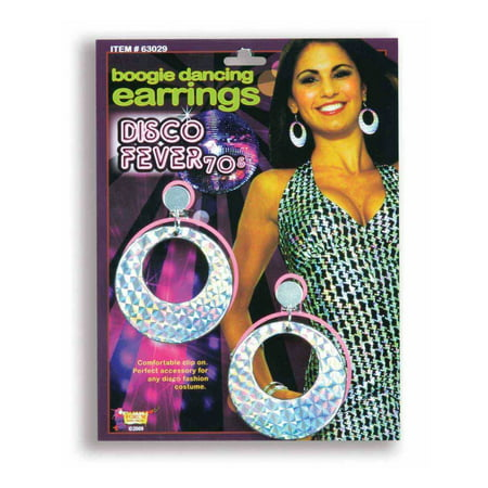 70s Disco Boogie Dancing Halloween Costume Accessory Earrings
