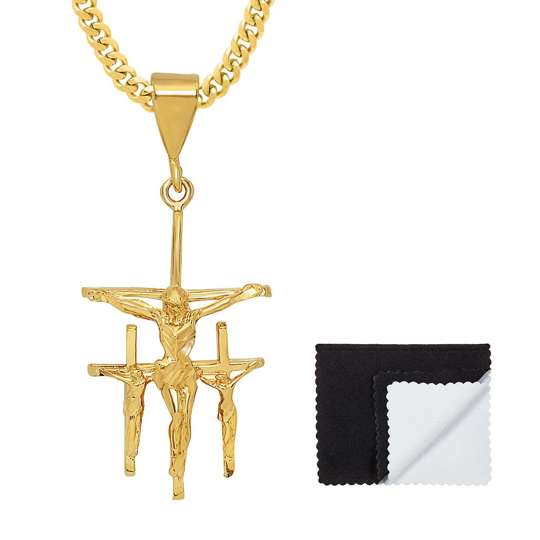 Crucifix Pendant Large Cross Pendant Sterling Silver Cross 52 x 29mm