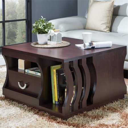 Furniture of America Hyacinth Contemporary Coffee Table in Espresso ()