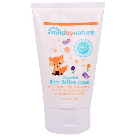 (Mild By Nature, Bitty Bottom Cream, Unscented , 4 oz (113 g))