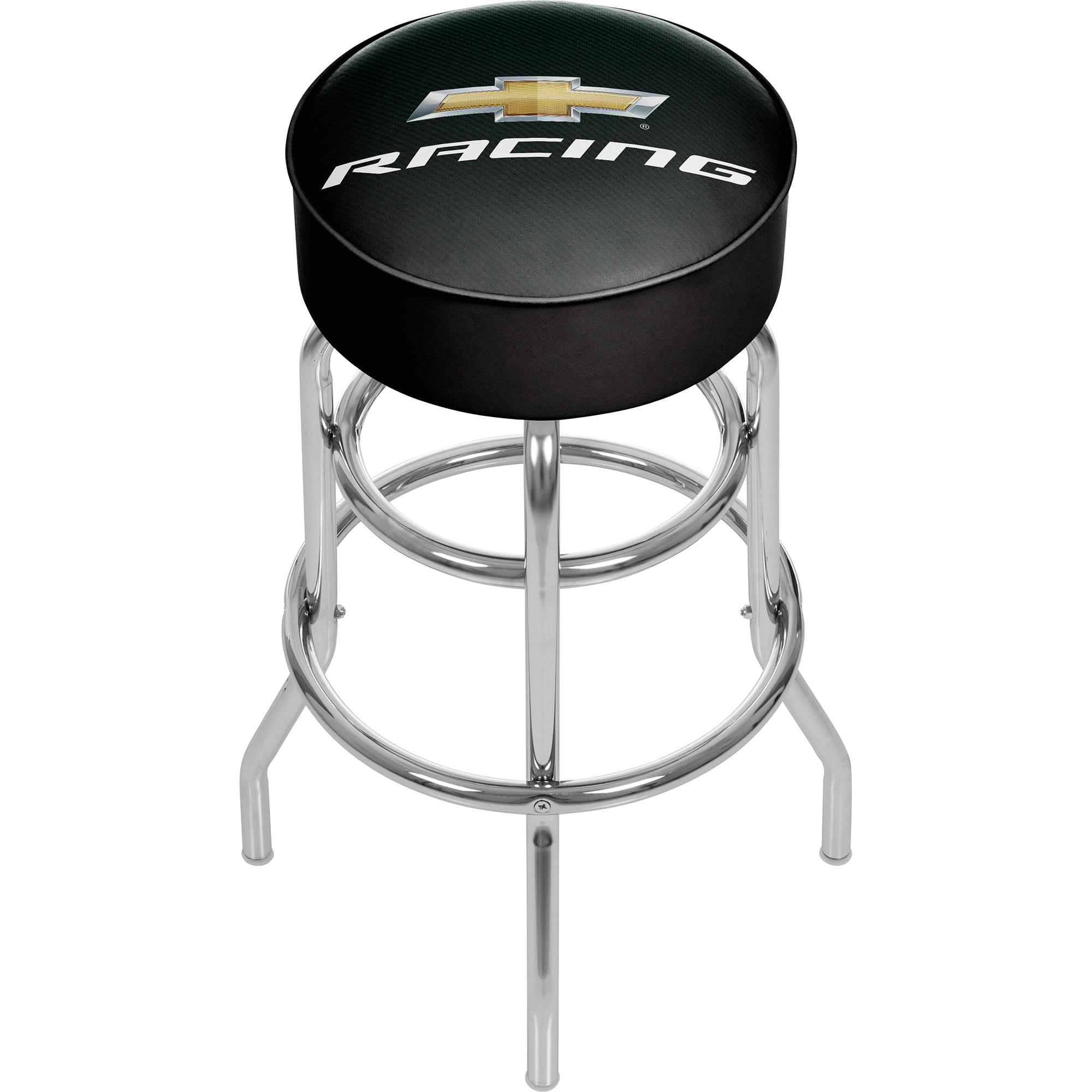 Chevrolet Padded Swivel Bar Stool, Chevy Racing