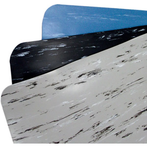 "2' x 3' K-Marble Foot 1/2"" Vinyl Gray/Black/White"