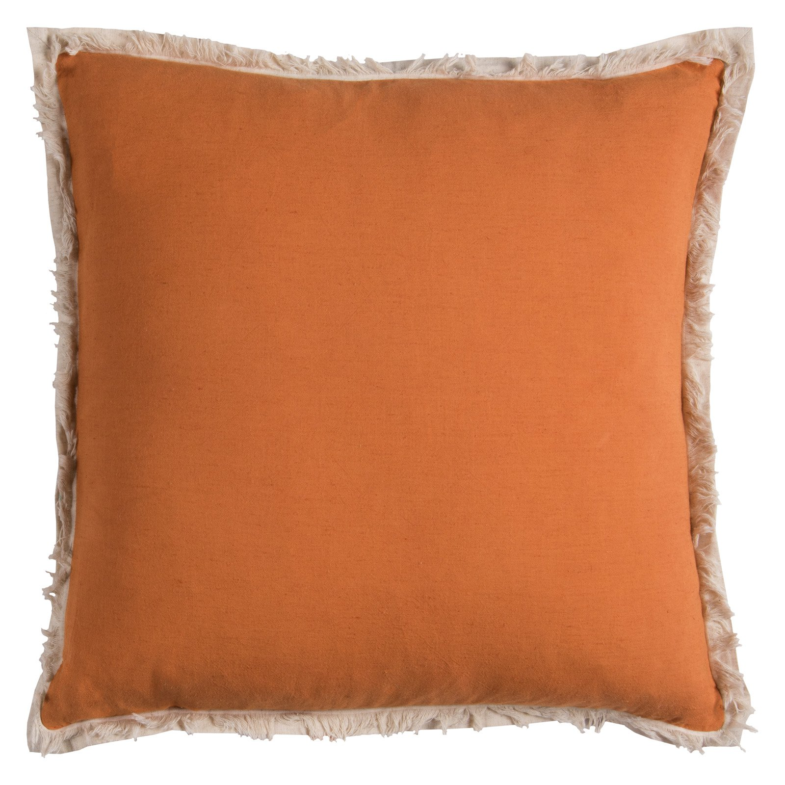 "Rizzy Home Solid Poly Filled Decorative Throw Pillow, 20"" x 20"", Orange"