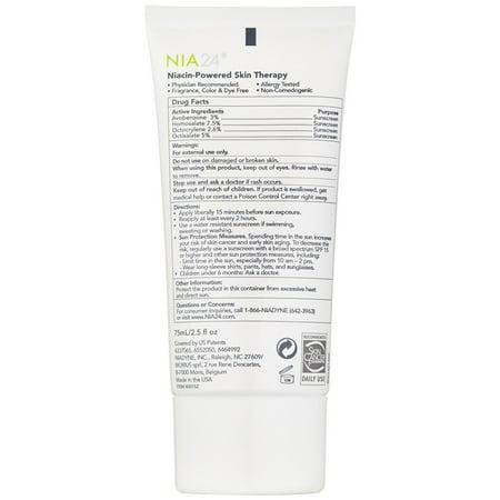 Best Nia 24 Sun Damage Prevention Broad Spectrum Sunscreen SPF 30, 2.5 fl. oz. deal