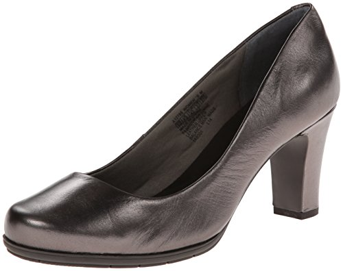 Rockport A12785 : Women's Total Motion 75 mm Pump Dress Pump,Pewter (10 B(M) US, Pewter Smooth Leather) by Rockport Footwear Womens