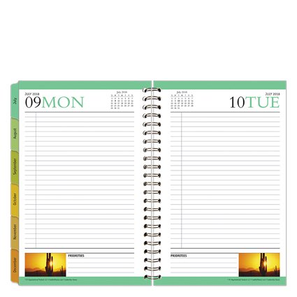 Classic Leadership One Page Per Day 6 Month Wire Bound Planner Jul