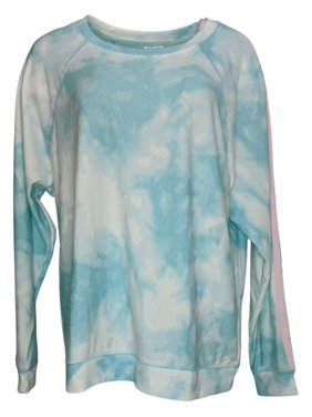 Splendid Women's Pajama Top Plus Sz 1X Ombre French Terry Pullover Blue A391478