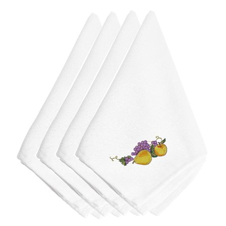 - Thanksgiving Fruit Embroidered Napkins Set of 4 EMBT3510NPKE