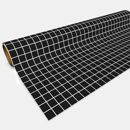 Black 1in Square Gaming Paper 30in x 12ft Roll Color Gaming Paper