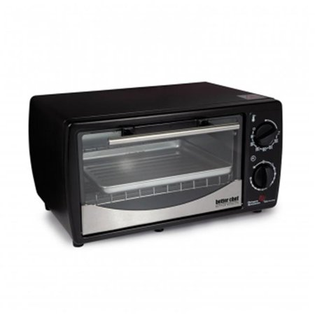 Toaster Oven Broiler with Stainless Steel Front, 9 Ltr, Black ()