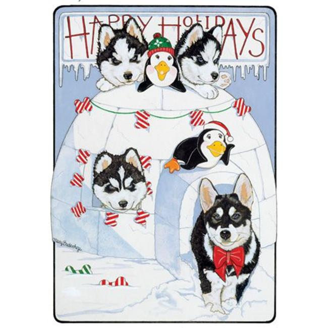 Pipsqueak Productions C818 Siberian Husky Holiday Boxed Cards