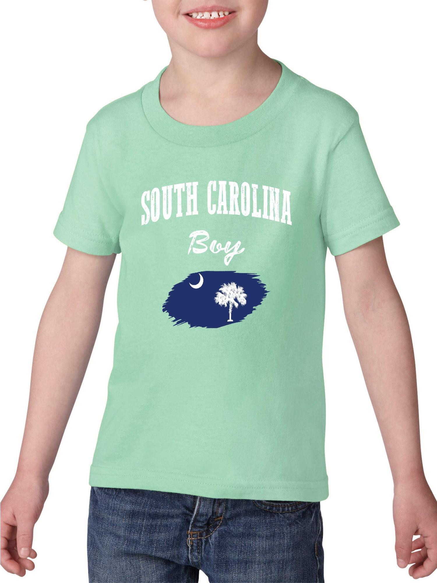 South Carolina Boy Heavy Cotton Toddler Kids T-Shirt Tee Clothing