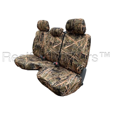 Toyota Avalon Set - RealSeatCovers 3 Layer Seat Cover for Toyota Tacoma Reg Cab Bench 3 Adjustable Headrest Custom Made Triple Stitched A30 (Muddy Water Camo)