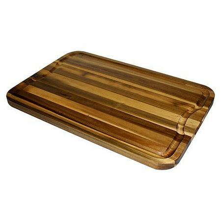 Extra Large Organic Edge-Grain Hardwood Acacia Cutting Board, with Juice groove, Best Kitchen chopping Board (Butcher Block) for Meat, Cheese, & Vegetable Serving Tray with Carved-In Handles, (Best Wood For Chopping Board Uk)