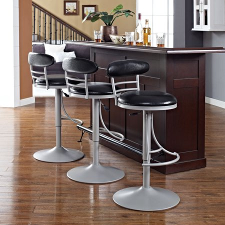 JASPER SWIVEL COUNTER STOOL IN PLATINUM WITH BLACK