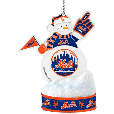 Topperscot by Boelter Brands MLB LED Snowman Ornament, New York Mets (Baseball Snowman Ornament)