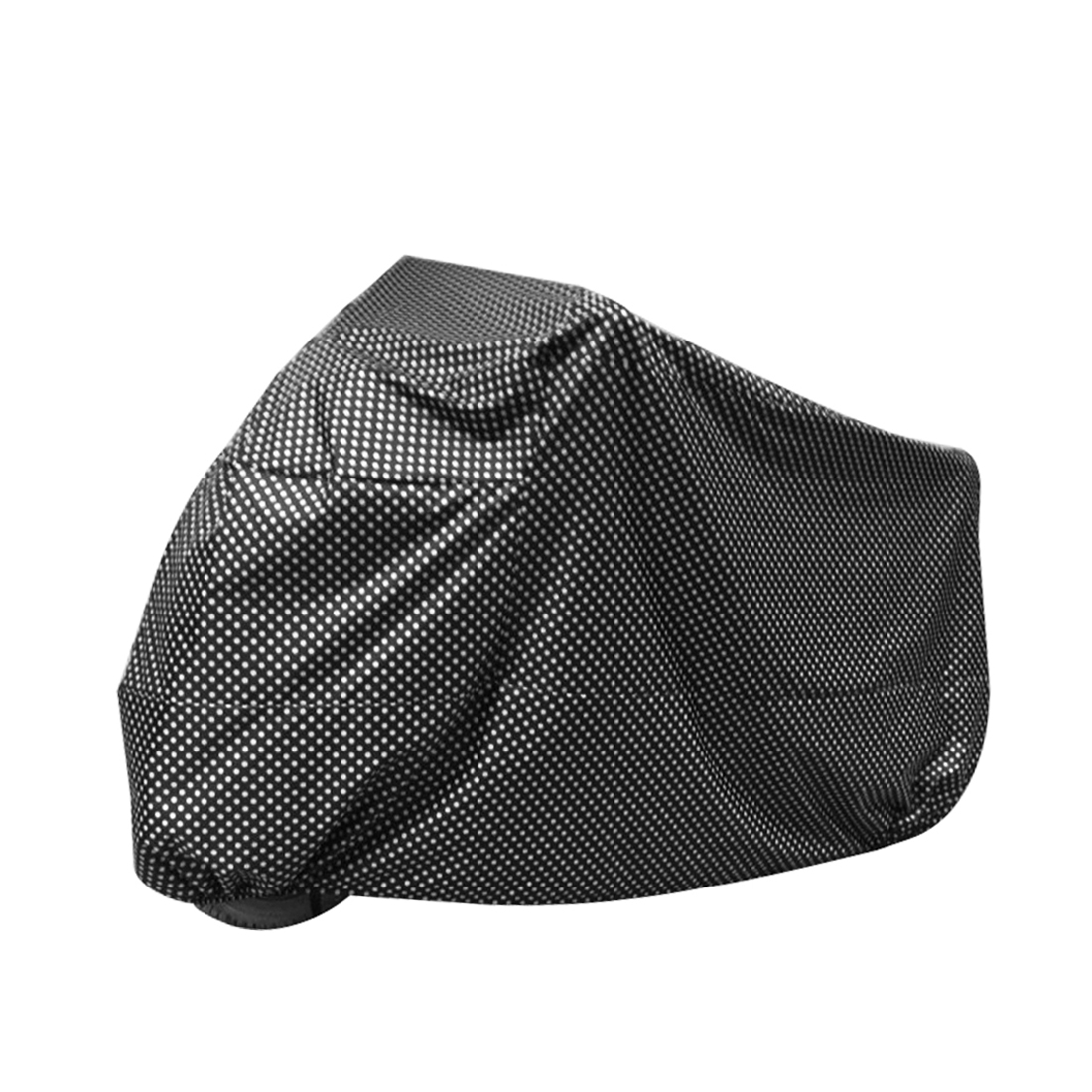 XL Black Dotted Motorcycle Waterproof For Harley Davidson UV Protective Breathable Cover Outdoor