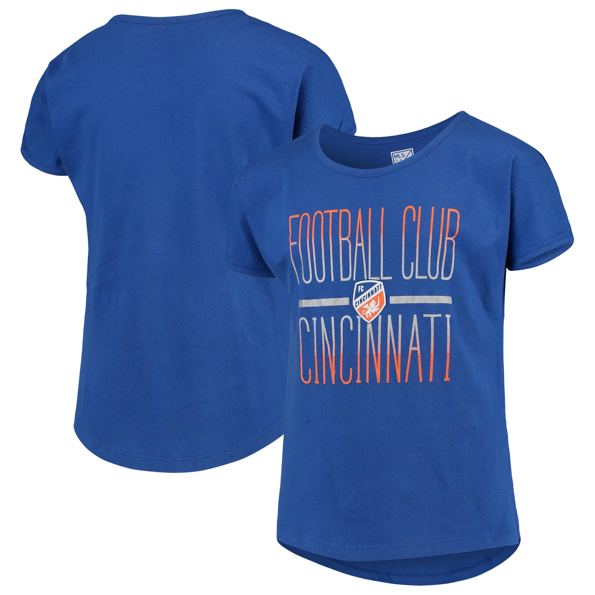 FC Cincinnati Girls Youth Glory Dolman T-Shirt - Blue