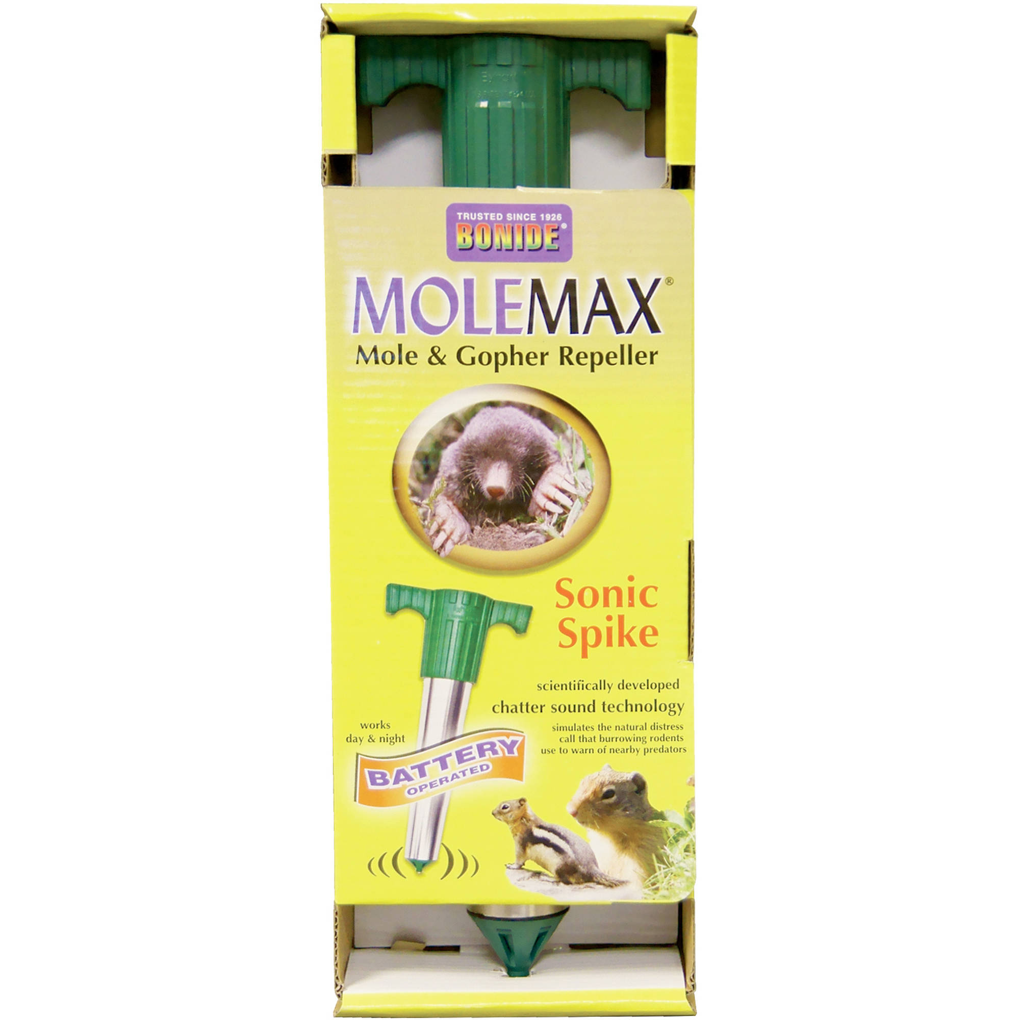 Bonide 61118 Battery Operated MoleMax Sonic Spike
