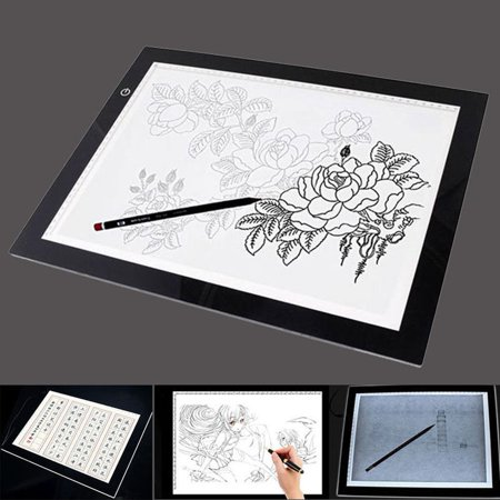 Ultra Slim Tracing Board A4 LED Light Box tracer USB Power LED Artcraft Tracing Light Pad with 10 Practice paper for Designing Drawing - Led Paper
