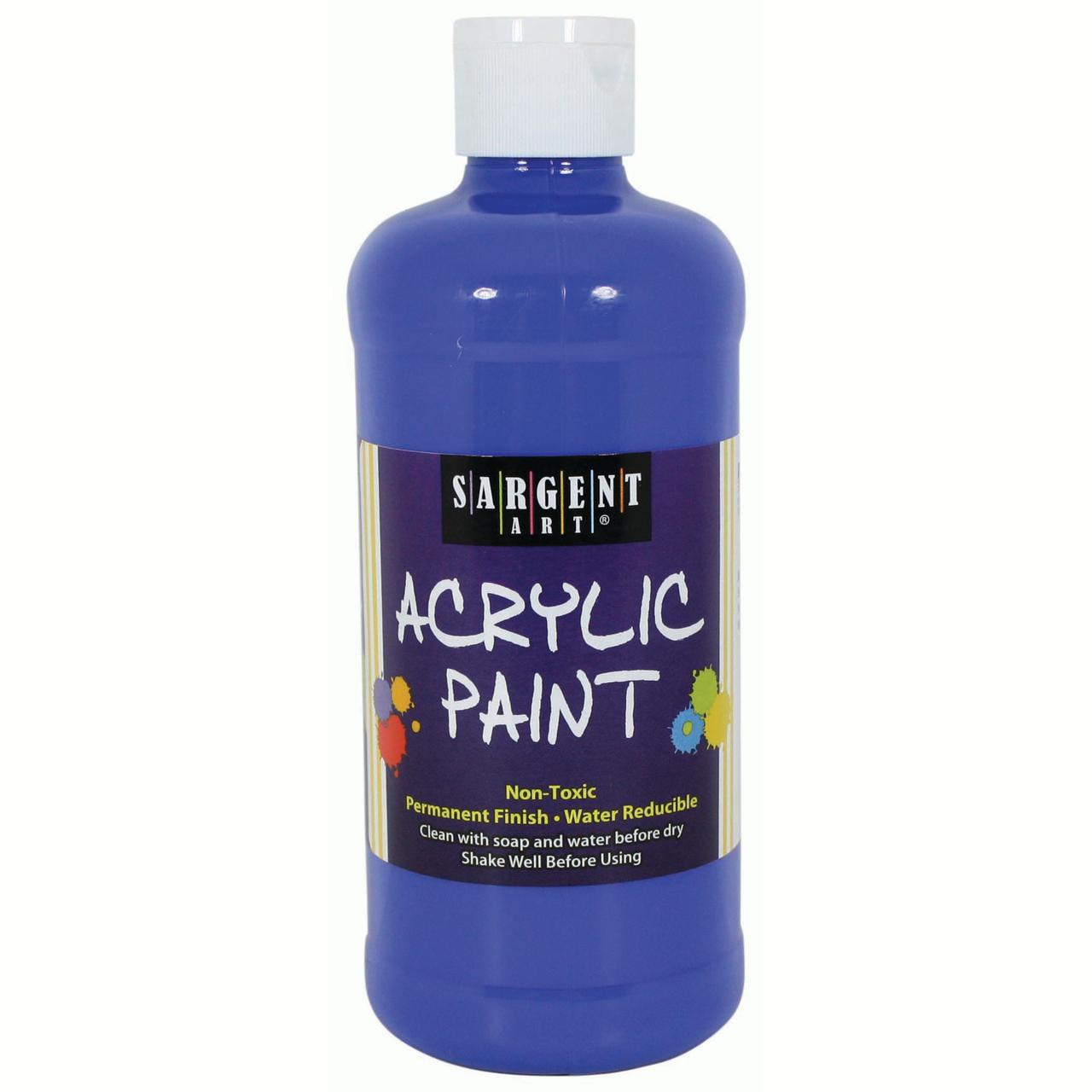 Sargent Art® Acrylic Paint, 16 oz. Squeeze Bottle, Blue, 3/pkg
