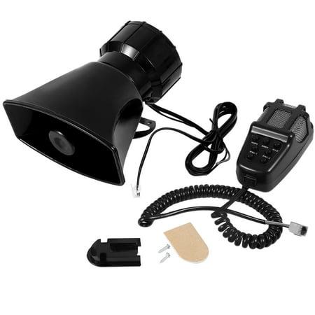12V Loud Horn Siren 7 Sounds Horn With Mic Pa Speaker System For Car Boat Van Truck