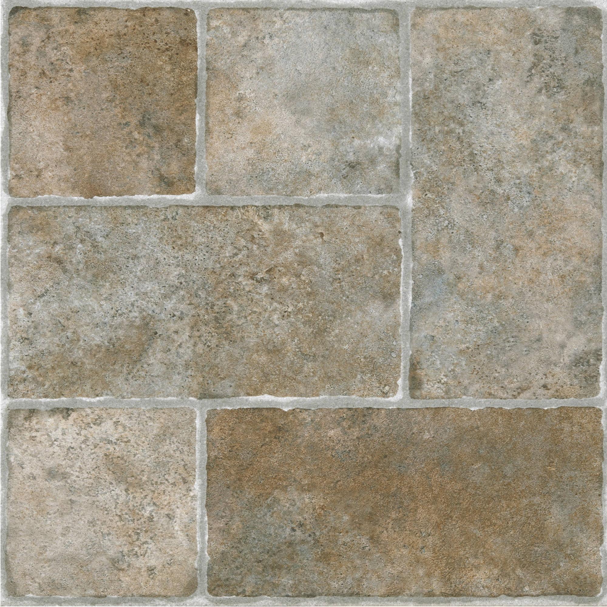Vinyl Floor Tiles Self Adhesive image of self adhesive vinyl floor tiles material Sterling Cottage Stone 12x12 Self Adhesive Vinyl Floor Tile 20 Tiles20 Sq