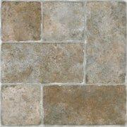 Achim Sterling Self Adhesive Vinyl Floor Tile - 20 Tiles/20 Sq.Ft., 12 x 12, Gray
