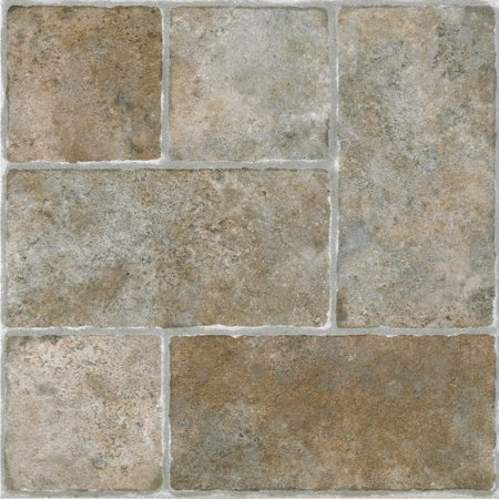 sterling cottage stone 12x12 self adhesive vinyl floor