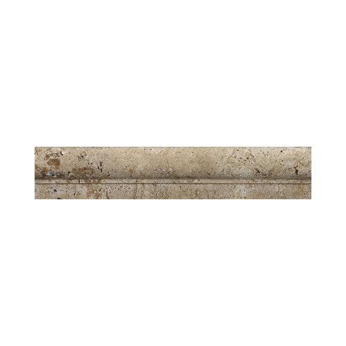 Emser Tile Natural Stone 12'' x 2'' Fontane Travertine OG in Walnut