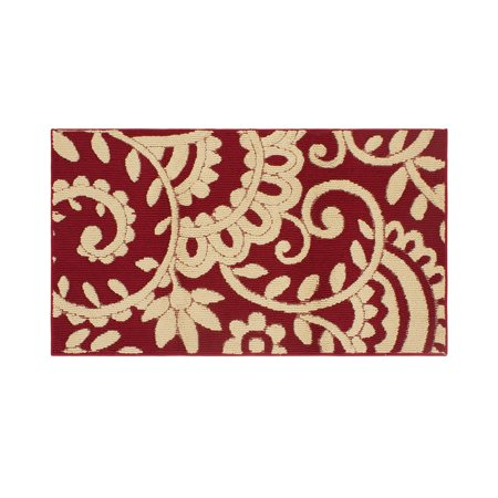 Jean Pierre Adele 30 x 50 in. Loop Accent Rug, Barn/Berber Damask Loop Hooked Rug