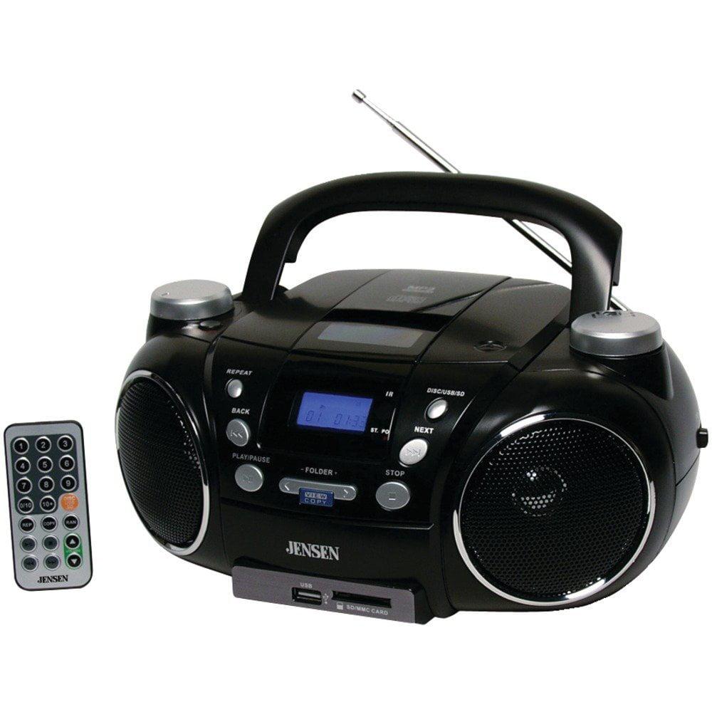 Jensen CD_750 Portable AM_FM Stereo CD Player with MP3 En...