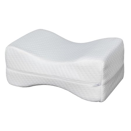 WALFRONT 11 *7 *4.5Inch Sleep Restoration Double-sided Grooved Memory Foam Leg Support Pillow Removable and Washable Cover  for Side Sleepers Sleeping Pregnant Women Sciatica Pain Back Pain (Lower Back Pain From Sleeping On My Back)