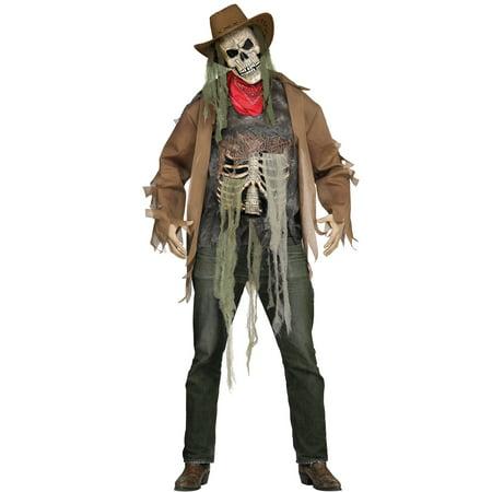Wanted: Dead or Alive Cowboy Skeleton Adult Costume (Cowboy Adult Costume)