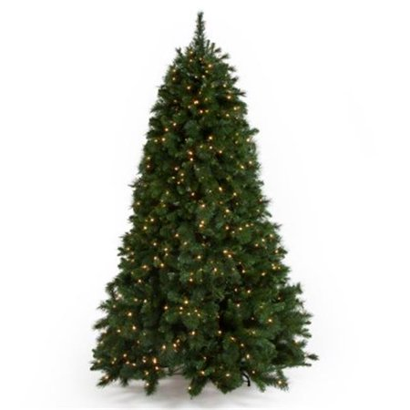 National Tree Pre-Lit 7-1/2 Rocky Ridge Medium Pine Hinged Artificial Christmas Tree with 750 Clear Lights