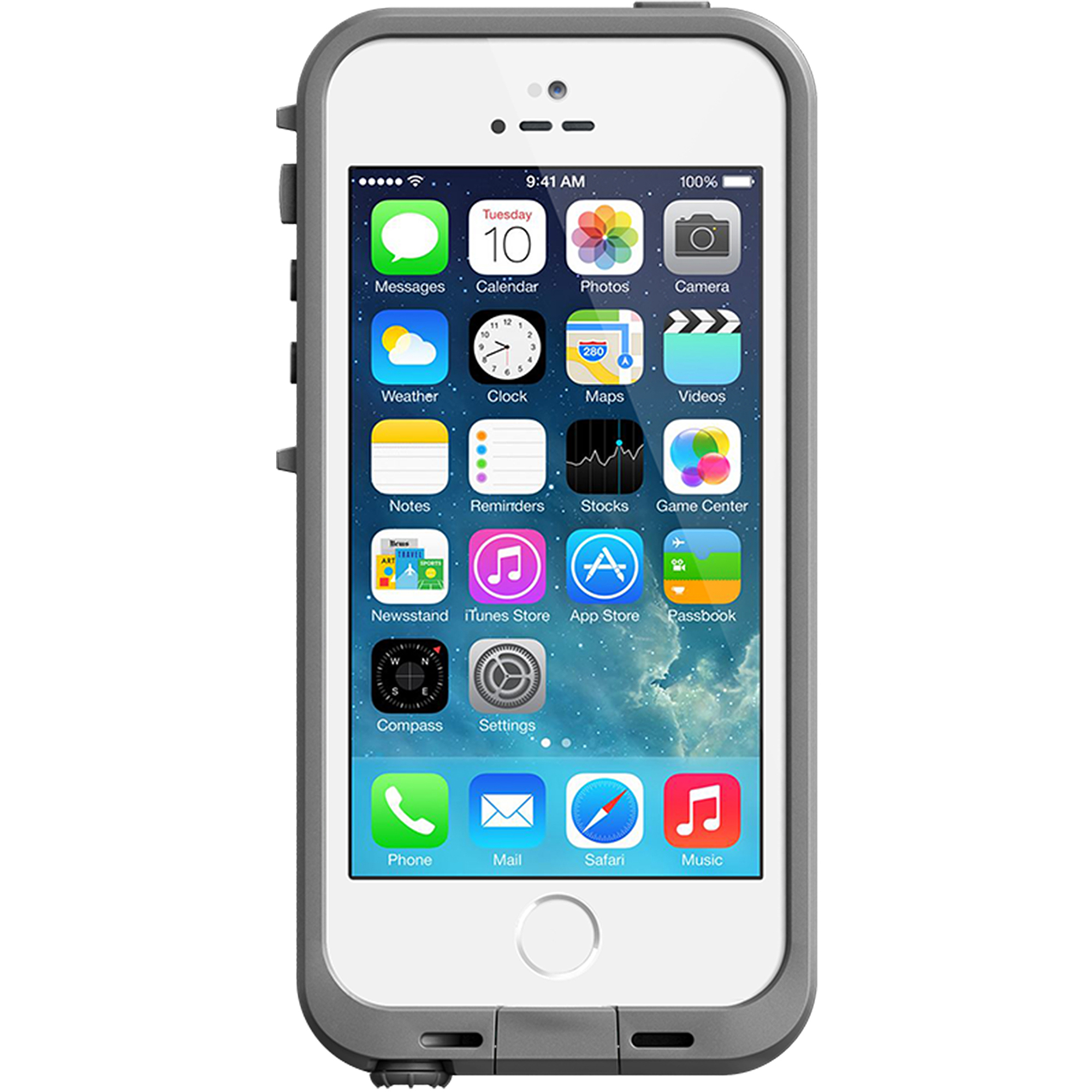iPhone 5/5SE/5S Lifeproof case fre series, white/gray