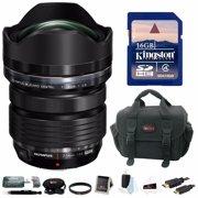 Olympus M.Zuiko Digital ED 7-14mm f/2.8 PRO Lens w/ 16GB SD Card & Accessory Bundle