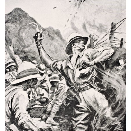 British Lieutenant WT Forshaw Vc Hurled Hand Grenades At The Enemy For Forty One Hours August 7Th To 9Th 1915 During An Action At A Place Known As The Vineyard Gallipoli Peninsula Turkey And Was Award