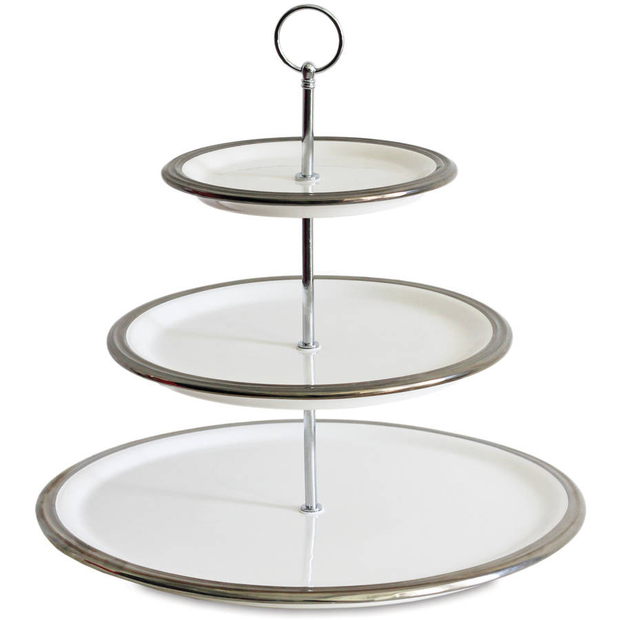 3-Tier Server, White and Silver