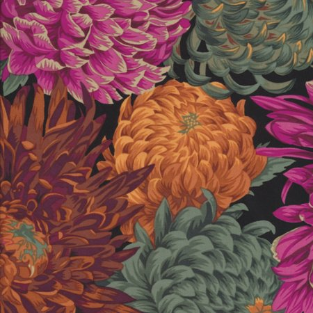 Kaffe Fassett Collective 2014 Red Japanese Chrysanthemum by Philip Jacobs