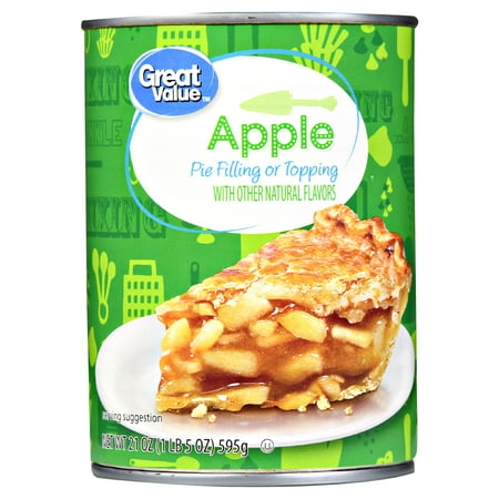 (4 Pack) Great Value Pie Filling or Topping, Apple, 21