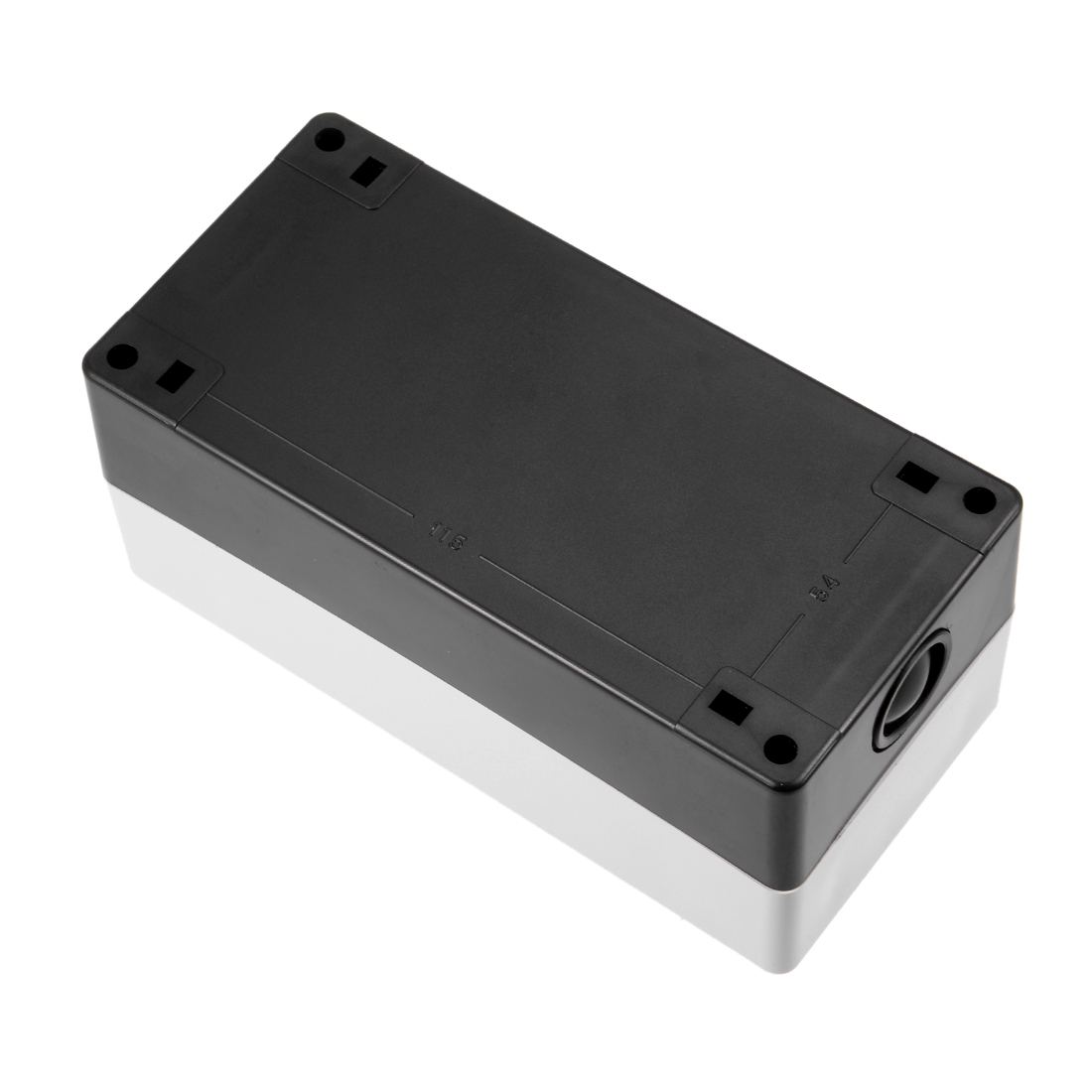 uxcell/® Push Button Switch Control Station Box 22mm 3 Button Hole Waterproof Black and White